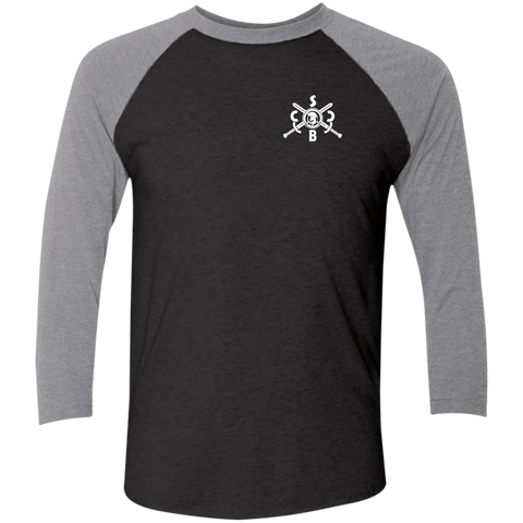 Black Arrow Tri-Blend 3/4 Sleeve Baseball Raglan T-Shirt