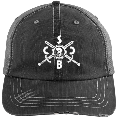 SBCC Distressed Unstructured Trucker Cap