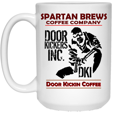 Door Kickers Inc. 15 oz. White Mug