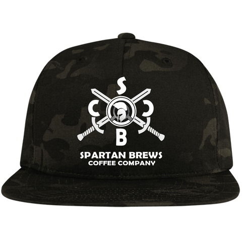 Spartan SBCC Flat Bill High-Profile Snapback Hat