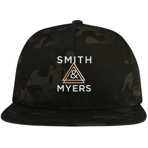 JM Flat Bill High-Profile Snapback Hat