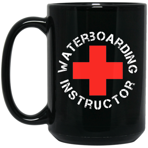 Waterboard Instructor 15 oz. Black Mug