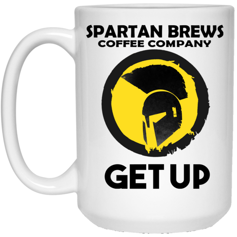 Get Up 15 oz. White Mug