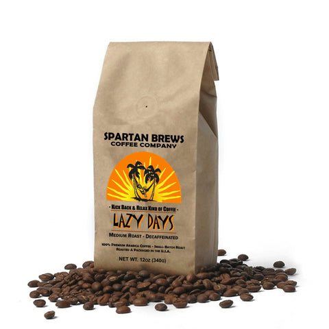 Lazy Days Decaffeinated Med  Roast Whole-Bean Coffee 12oz