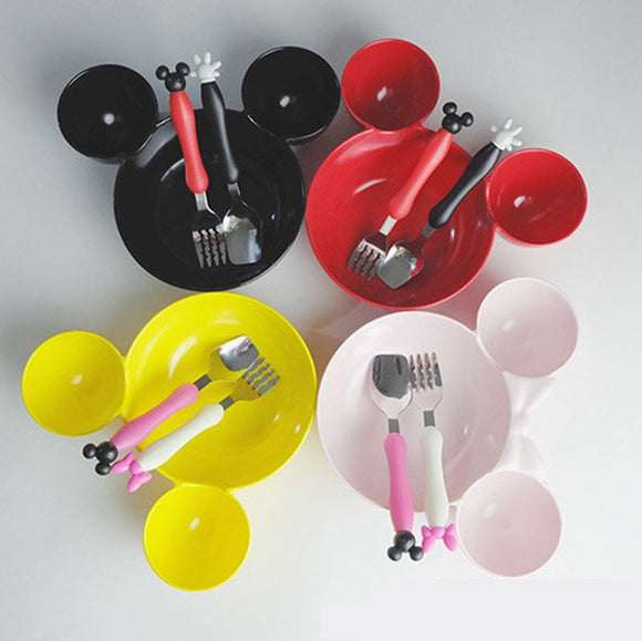 Mickey Minnie Mouse Tableware Set -