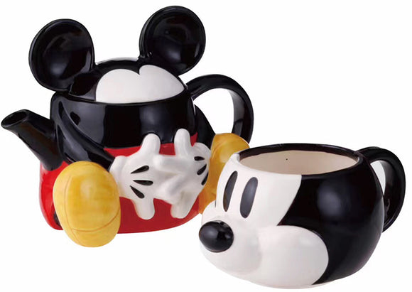 Mickey Minnie Mouse Teapot & Cup -