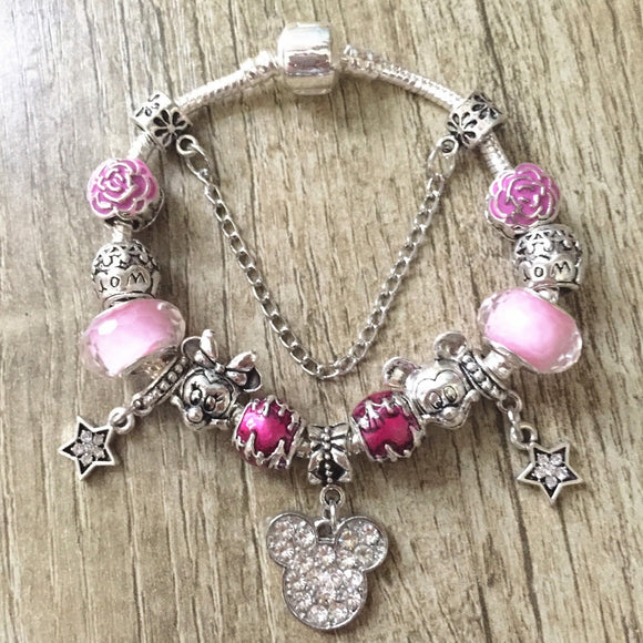 Minnie Mouse Charms Bracelets