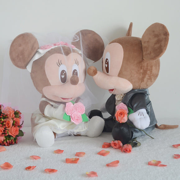 Mickey Minnie Mouse Wedding Plush -