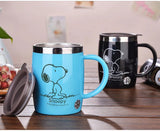 Snoopy Stainless Steel Mug with Cover