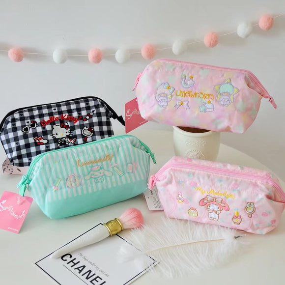 Sanrio Embroidery Cosmetic Pouch