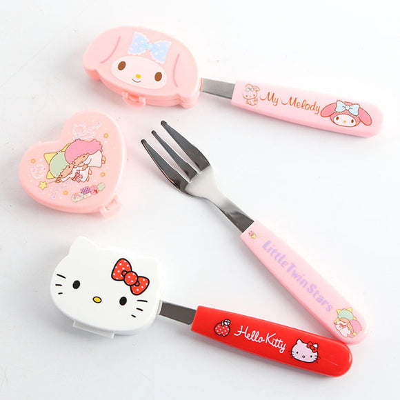Sanrio Children Fork With Case