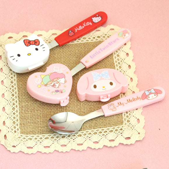 Sanrio Children Spoon With Case