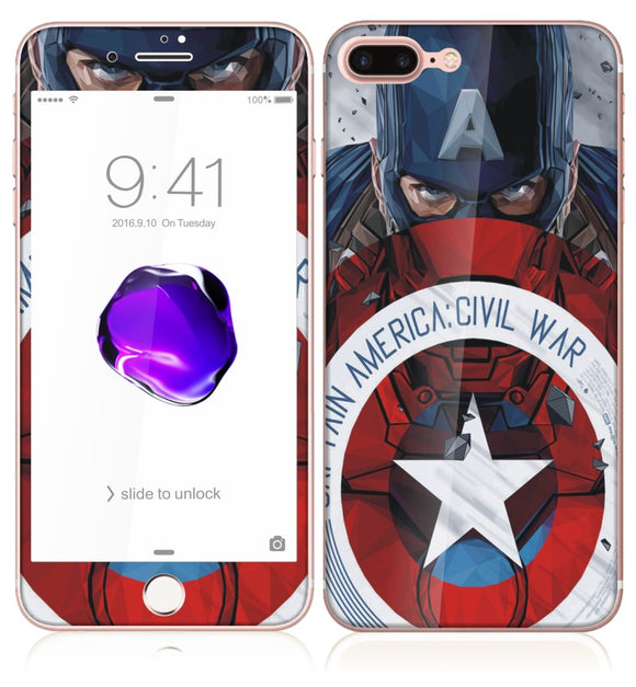 Cartoon Front & Back Tempered Glass for Iphone 7, 8 -