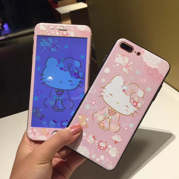 Sanrio Front & Back Tempered Glass for Iphone 6, 7, 8