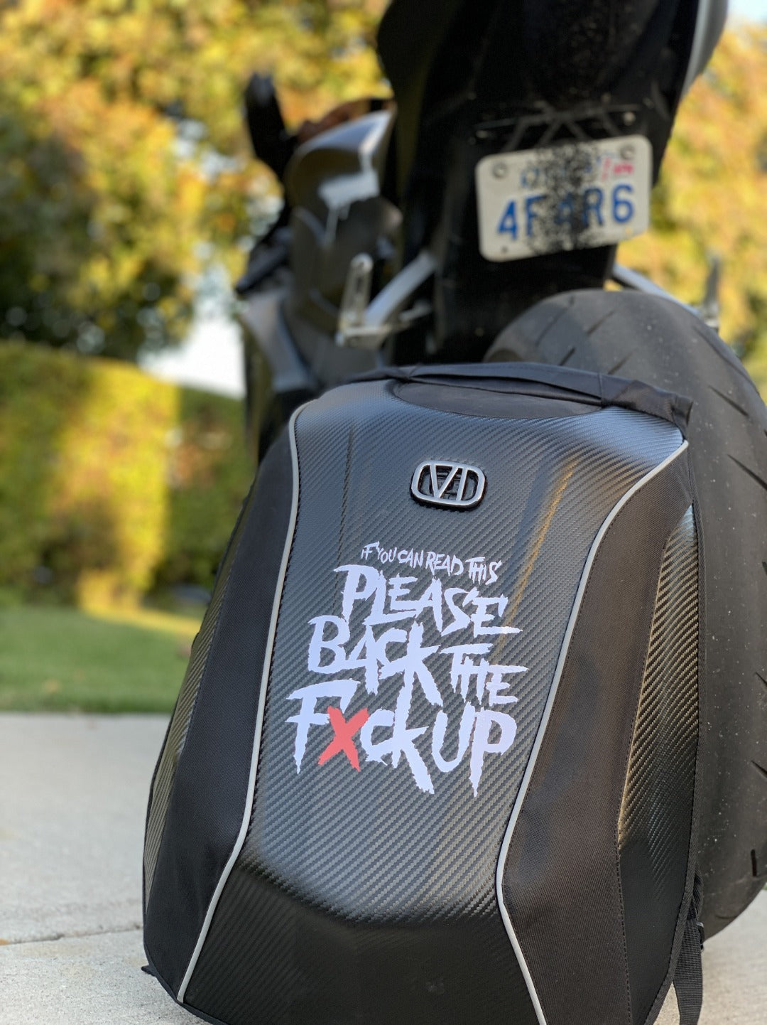 Motorcycle Backpack - Hard Shell