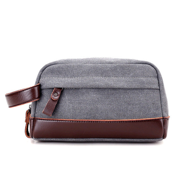 Vintage Canvas & Leather Toiletry Bag (5 Colors)