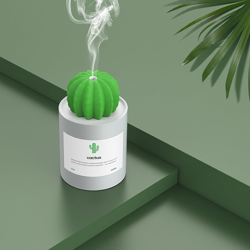 Ultrasonic Mini Cactus Humidifier Air Purifier