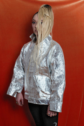 Silver industrial canvas jacket