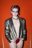 Super cool iridescent leather jacket by Carla