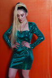 Emerald sequin dress from 80'
