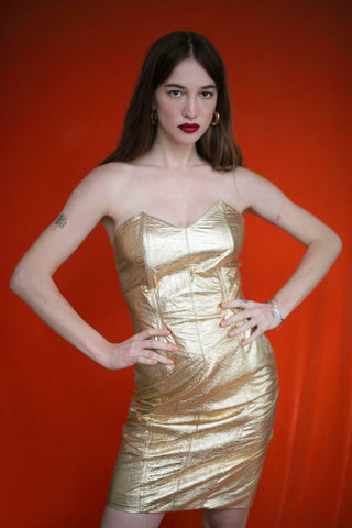 GOLD ENGLISH LEATHER DRESS