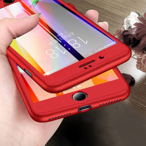 360 Degree Protection Case For iPhone Xs X 7 8 Plus Cover For iphone 6 6s Plus Cases Full Cover Slim Case