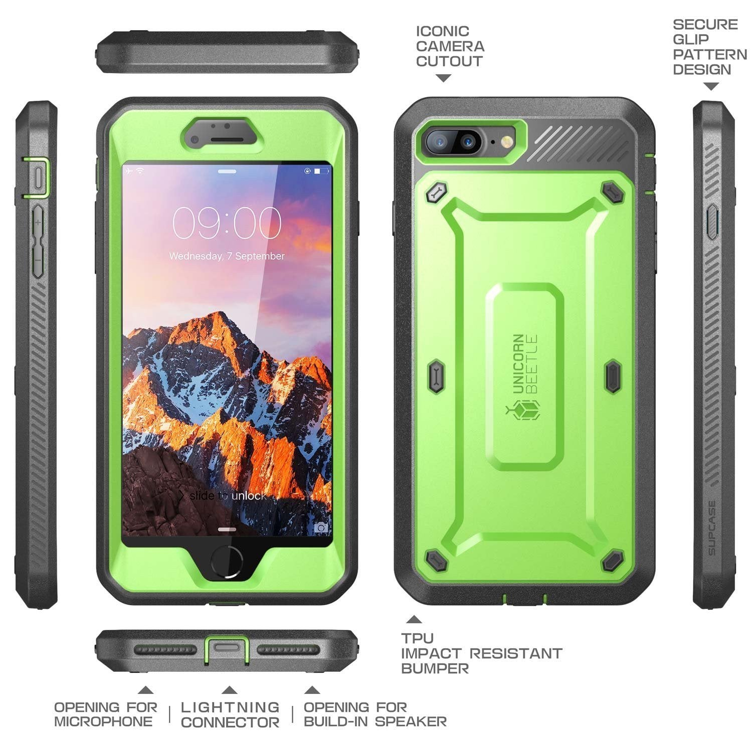 eeddc8dd5 ... iPhone 7 Plus iPhone 8 Plus SUPCASE Unicorn Beetle PRO Rugged Holster  Case&Built-in Screen ...