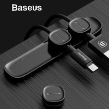 Baseus Magnetic Cable Clip For Mobile Phone USB Data Cable Organizer For USB Charger Cable Magnetic Phone Holder Desktop Cable Winder