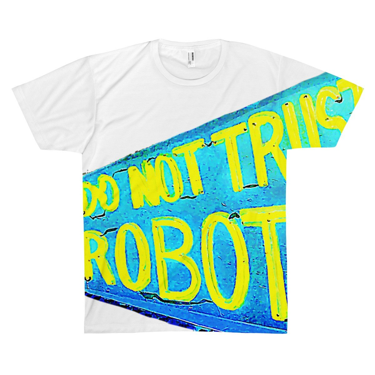 --Do Not Trust Robots Mens Fashion Graphic Tee-PopCoutureClub--