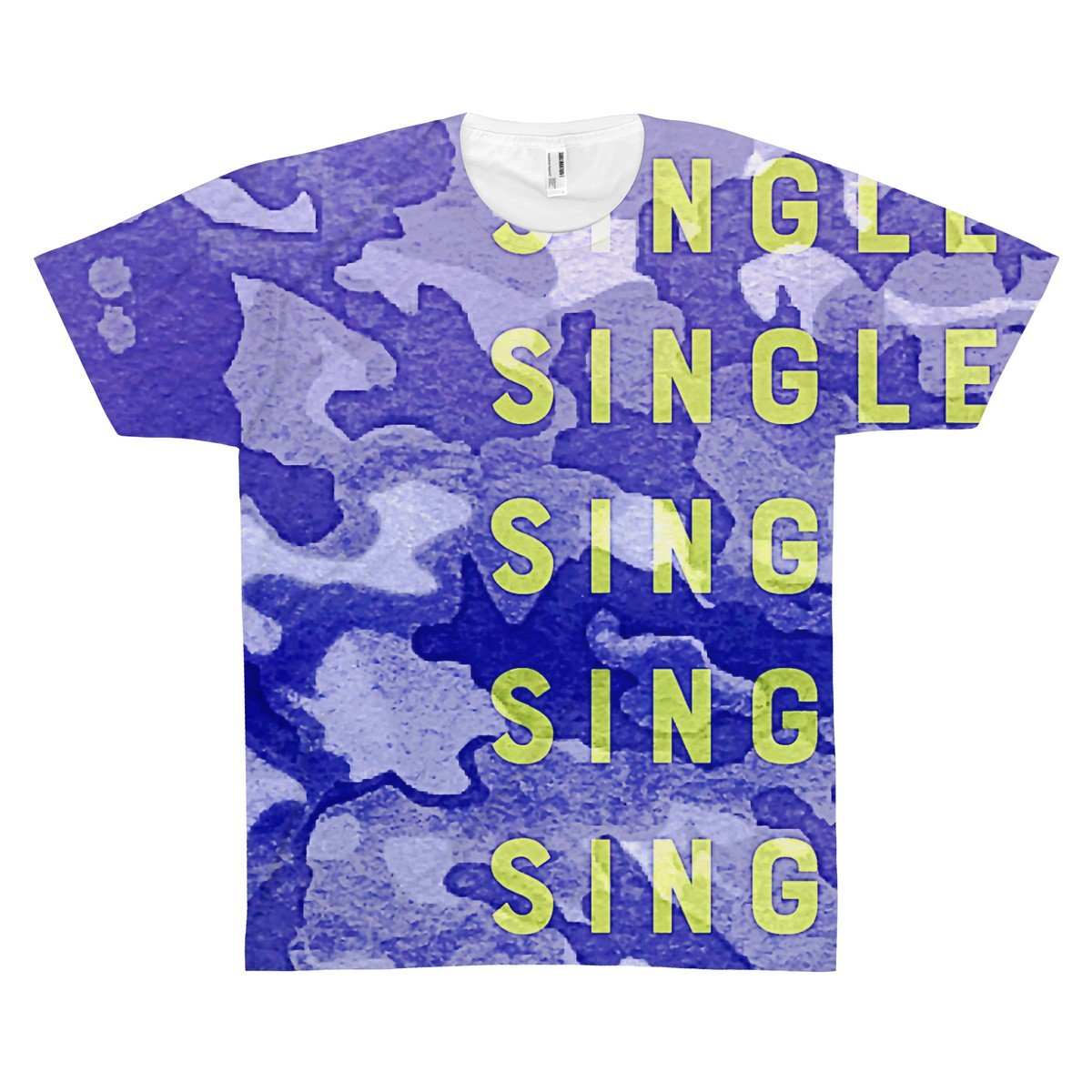 --SINGLE Custom Mens All Over Print Graphic T-Shirt-PopCoutureClub--
