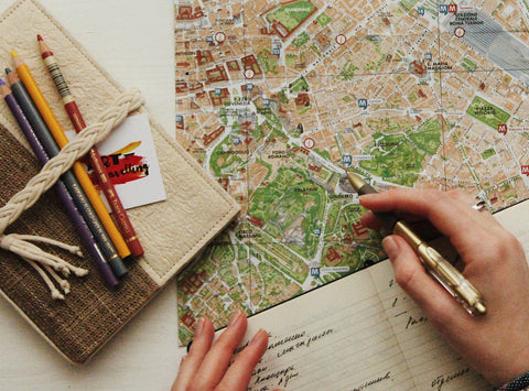 Tourist maps city for safe travel