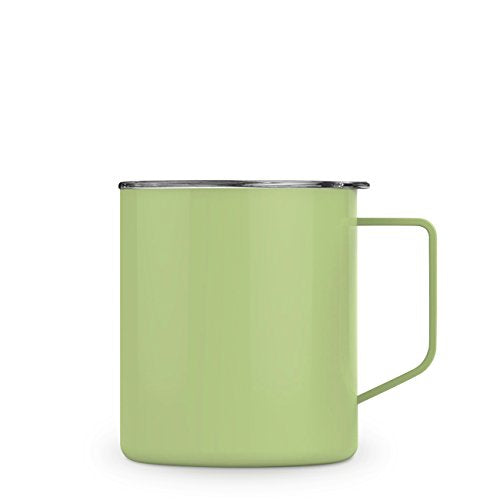 Maars Townie Insulated Coffee Mug, 14 oz | Double Wall Vacuum Sealed Camp Cup - Matcha Green