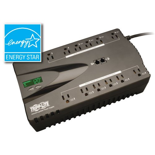 Tripp Lite Surge Protector & UPS Battery Backup, 12 Outlets