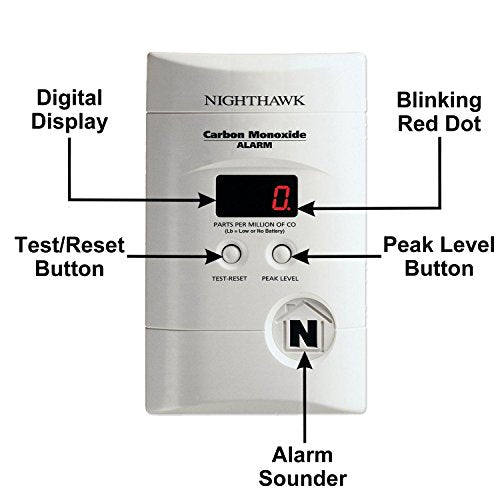 Nighthawk - Carbon Monoxide Alarm with Digital Display