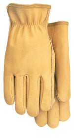 Smooth Grain Cowhide Work Glove with Elastic Wrist