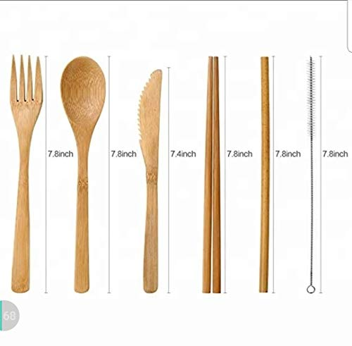 Bamboo Flatware Travel 7 Piece Set