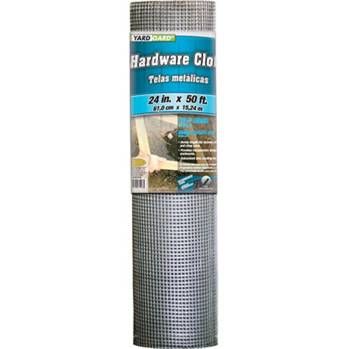 Gilbert & Bennett YARDGARD 308247B 24-Inch x 50-Foot 1/4-Inch Galvanized Mesh Hardware Cloth
