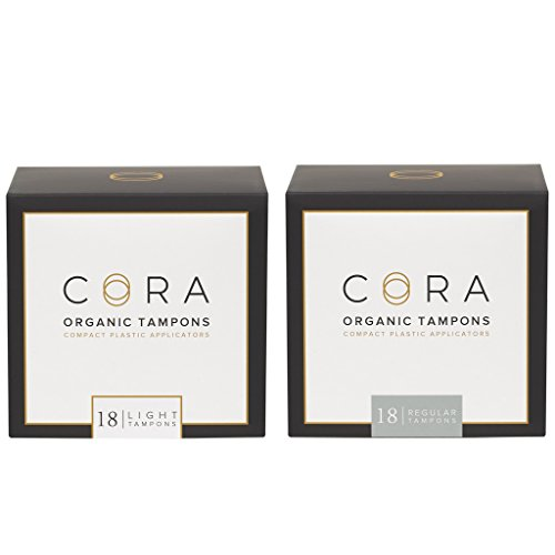 Cora Variety Pack - Light/Regular - Organic Cotton Tampons