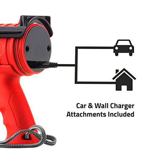 Waterproof Rechargeable Flashlight, 8W, 1000 Lumen LED, Red Light Filter, Wall/Car Charger Attachments