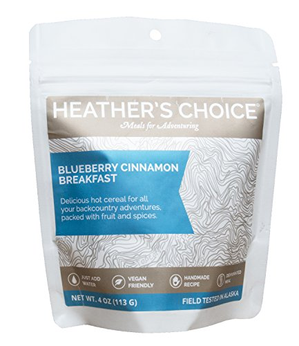Heather's Choice Dehydrated Paleo Meals Healthy High Protein Camping Breakfasts Lightweight for Backpacking or Hiking, Gluten Free Buckwheat and Coconut (Blueberry Buckwheat 3 Pack)