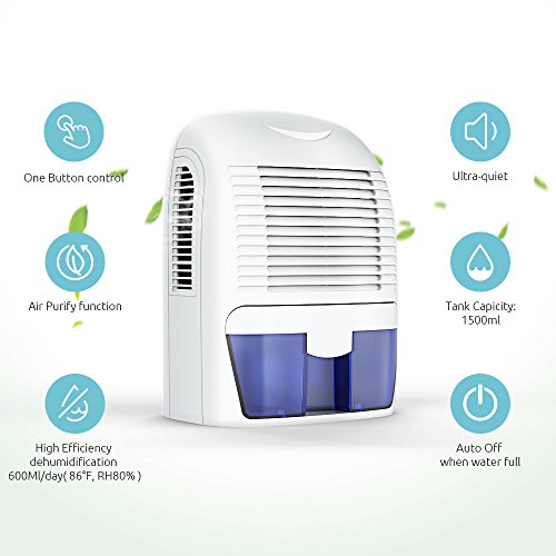 Hysure Portable 1500ml Dehumidifier