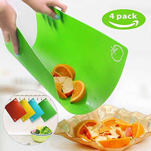 Extra Thick Flexible Plastic Kitchen Cutting Board Mats Set