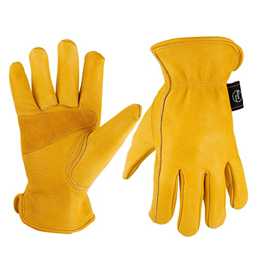 Unisex Leather Work Gloves