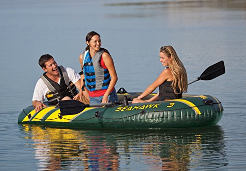 Intex Seahawk 3, 3-Person Inflatable Boat, Aluminum Oars, High Output Air Pump