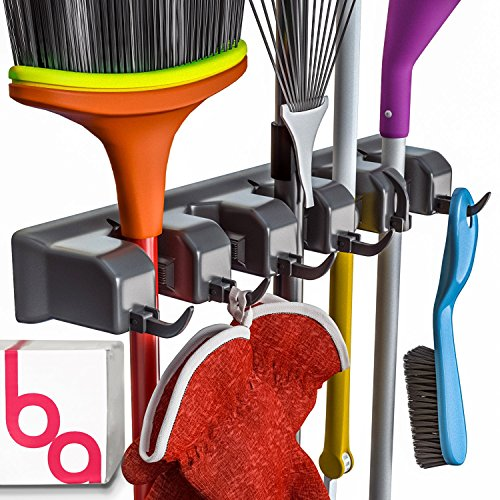 Broom Holder and Tool Hanging Organizer