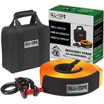 Heavy Duty Tow Strap Recovery Kit, 32,000 lbs, 30 ft w/ 2x D Ring Shackles