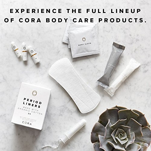 Cora Variety Pack - Regular/Super - Organic Cotton Tampons