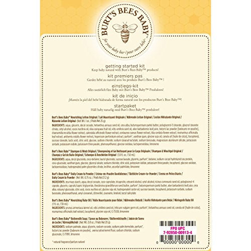 Burt's Bees Baby - 5 Trial Size Skin Care Products