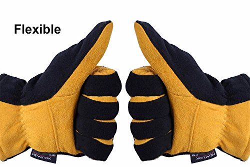 Suede Leather Palm and Polar Fleece Back Thermal Gloves