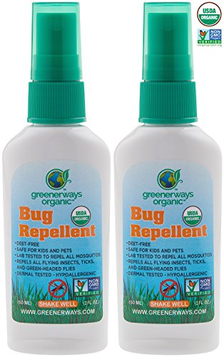 Greenerways Organic Mosquito Insect Repellent - 2oz